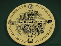 Bord ter herdenking van het 50-jarig bestaan van de ABW in 1994