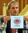 NS-directeur Roger van Boxtel met AMK-pamflet