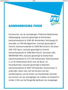 Aankondiging fusie - advertentie