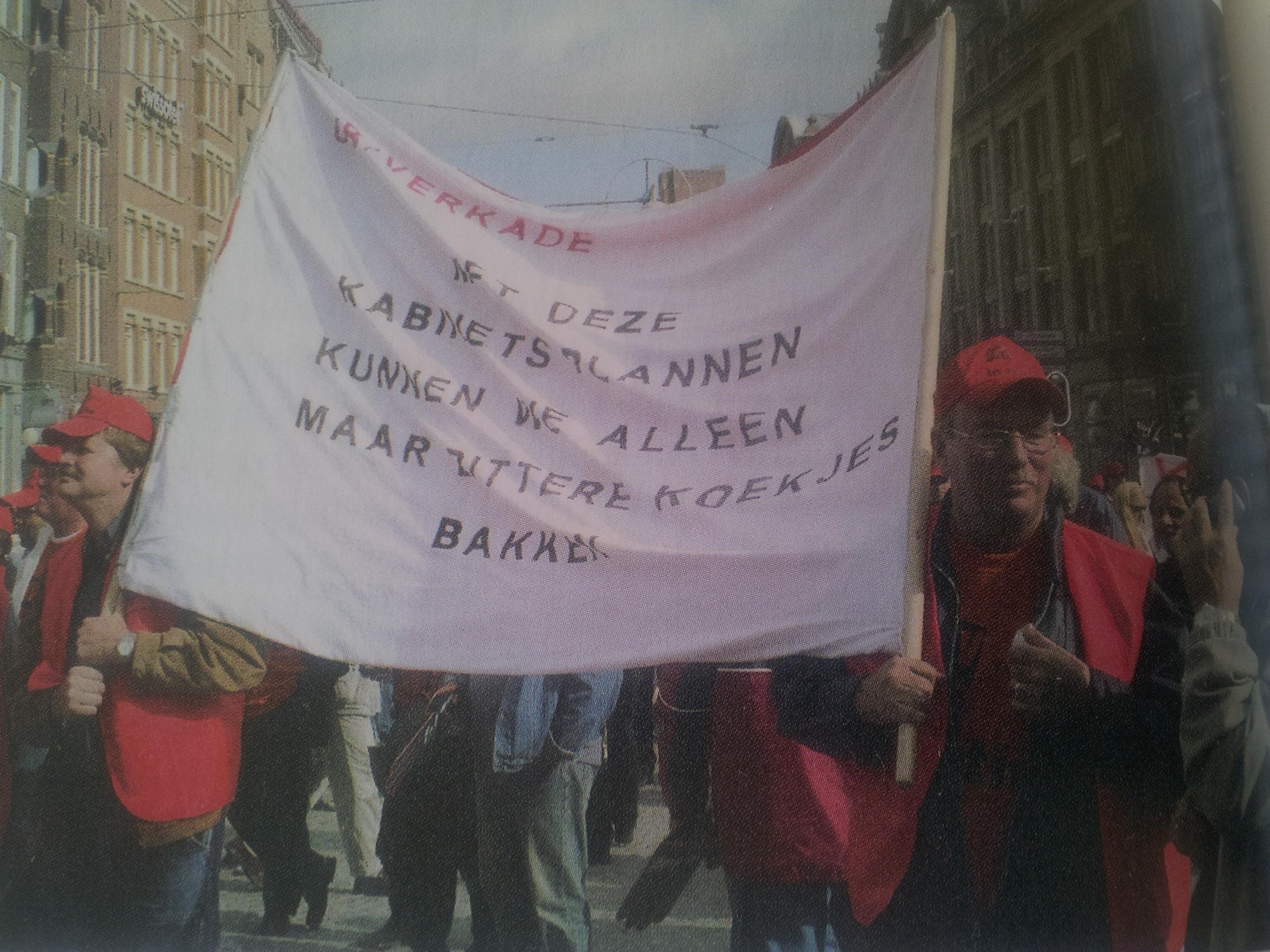 Beeld van de demonstratie op 20 september 2004 in Amsterdam