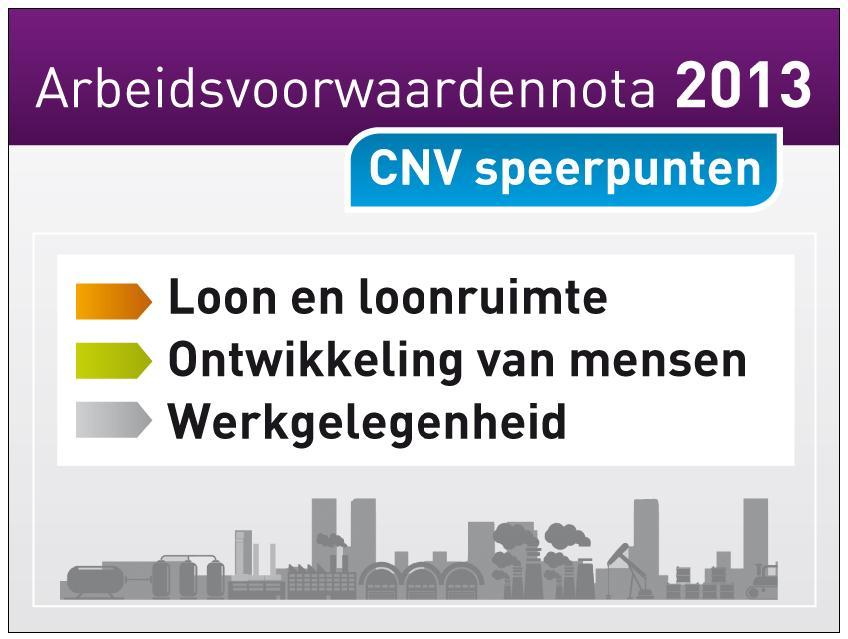 Omslag CNV Arbeidsvoorwaardenbeleid 2013
