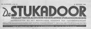 Bondsblad van de Algemene Nederlandse Stukadoorsbond