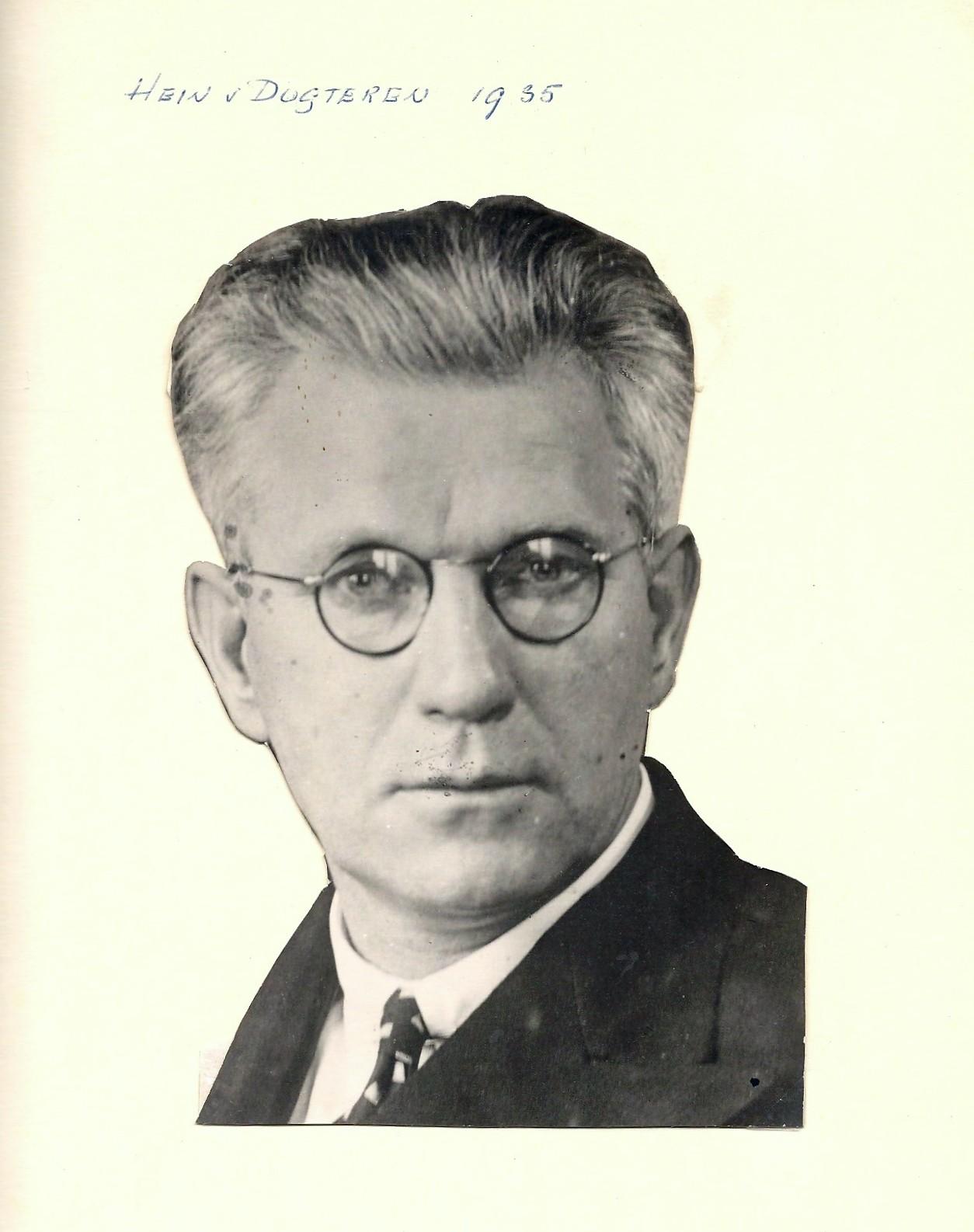 Hein van Dugteren, NVV-penningmeester van 1936-1947