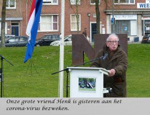 Henk van der Pols bij de herdenking van het 'vergeten bombardement op Rotterdam, in 2018