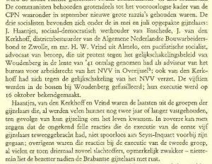 Passage uit Loe de Jong, Het Koninkrijk der Nederlanden, over de Dordtse bestuurder J. van den Kerkhoff