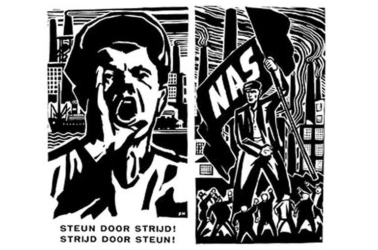 Illustratie van Franz Holz in het NAS-orgaan De Arbeid van 27 september 1935