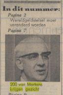 Toespraak Jan Mertens leidde ogenblikkelijk tot het in beeld brengen van 'de 200', zoals hier in de Volkskrant van 29 november 1968