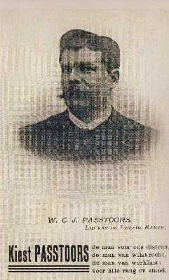 Willem Passtoors op verkiezingsaffiche uit 1913